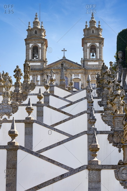 December 3, 2020: Staircase of Bom Jesus do Monte Sanctuary, Braga, Portugal