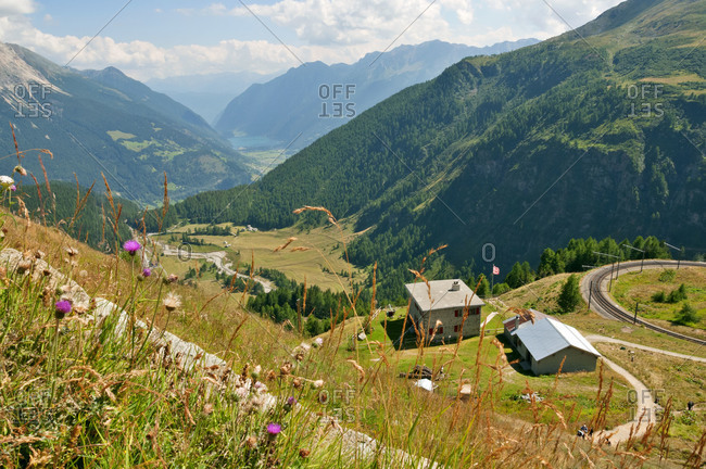 View before the descent into Poschiavo Valley