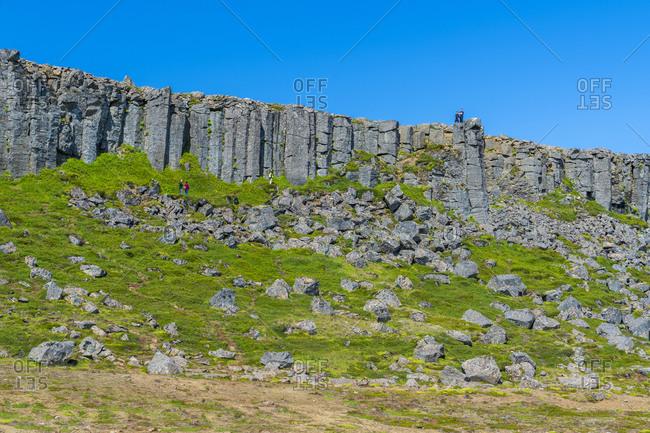 Gerduberg Cliffs in Iceland, Vesturland