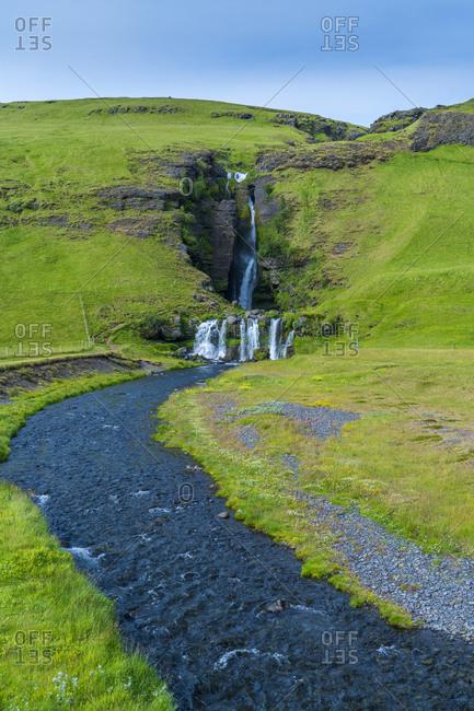 Gluggafoss or Merkjarfoss waterfall in Iceland