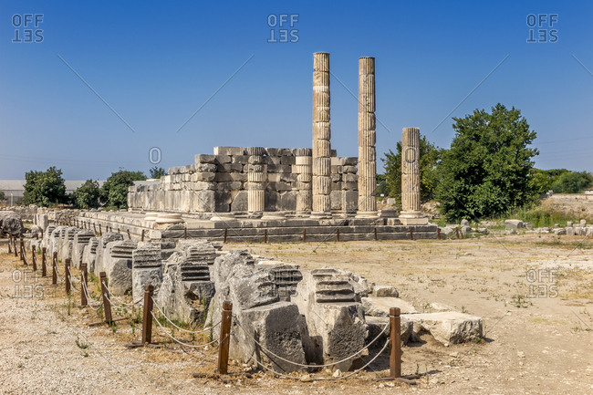 Ancient Ruins of the Temple of Leto at Letoon in Anatolia