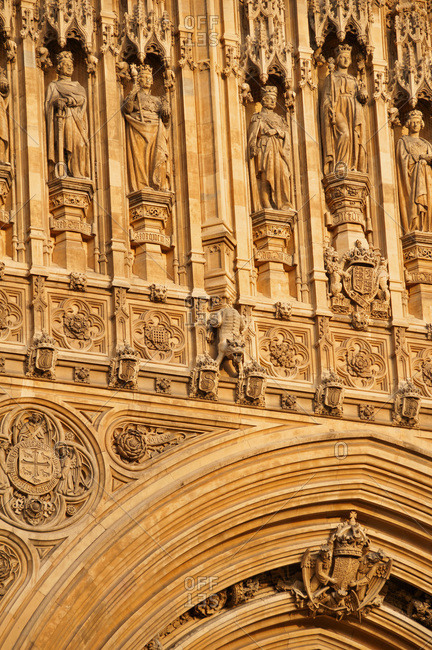 Detail of the Palace of Westminster