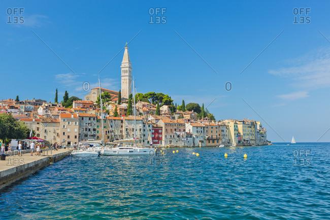 August 9, 2018: Adriatic Coast, Croatia, Istria