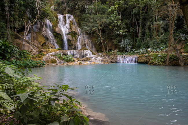 Kuang Si waterfall in Laos