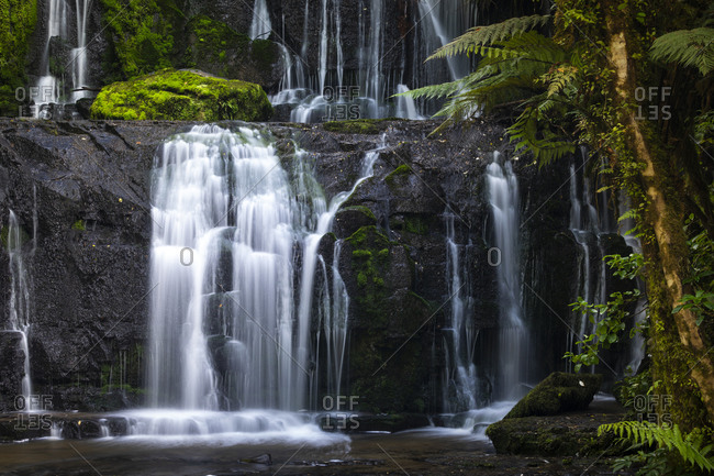 Purakaunui Falls in The Catlins National Park, New Zealand