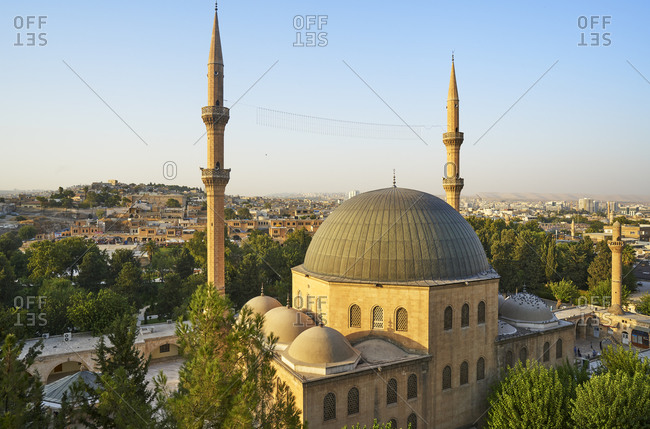 Mevlid-i Halil Mosque and view over Urfa city