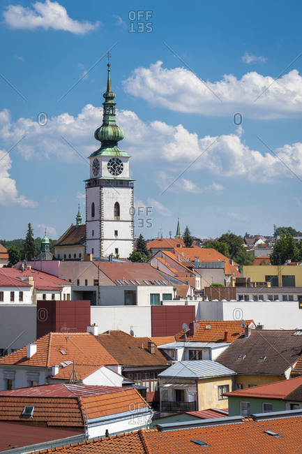 Church of Saint Martin and the city tower of Trebic