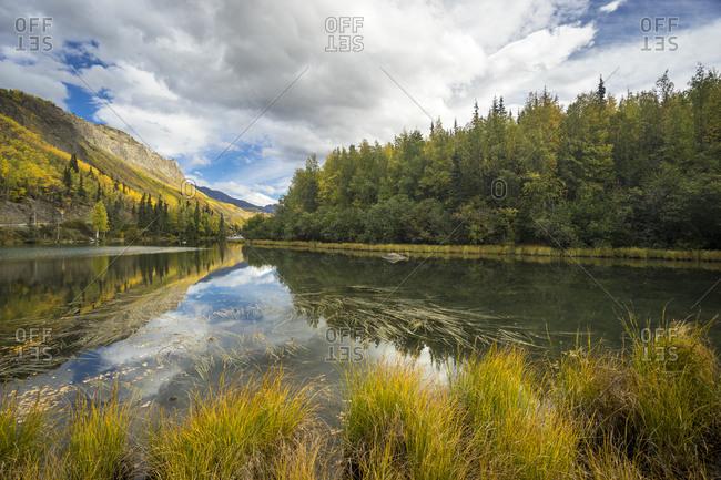 Long Lake by Glenn Highway in Alaska