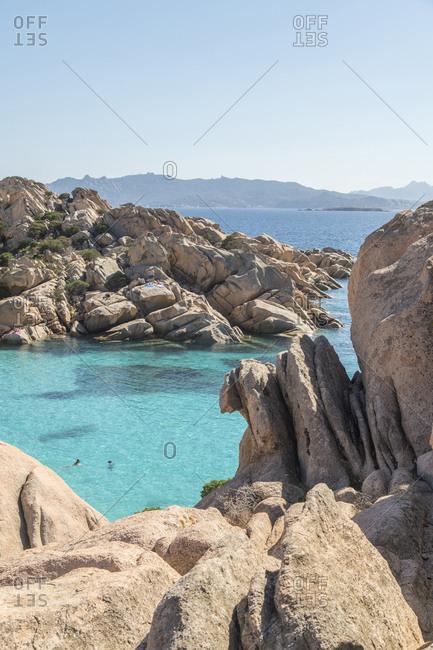 Caprera Island, Cala Coticcio, one of the most beautiful beach in Sardinia