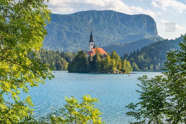 View of Bled Island, Slovenia, Upper Carniola