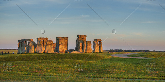 Famous stone circle near the city of Salisbury