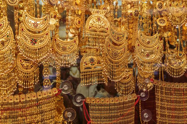 Dubai Gold Souk or Gold Souk, a traditional market in Dubai