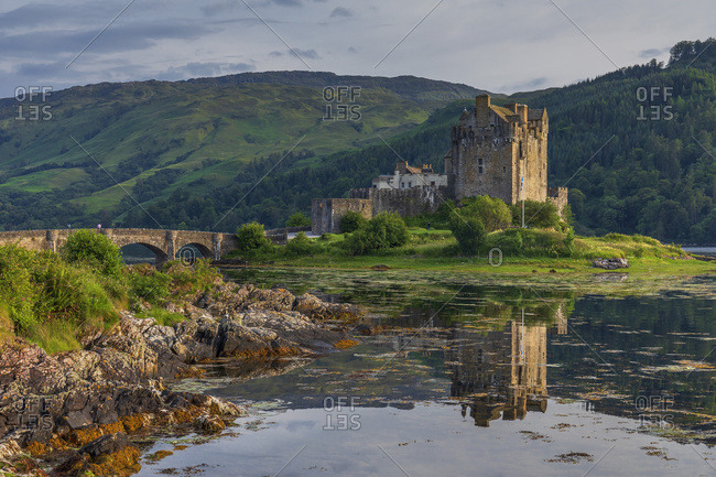 Medieval castle on Loch Duich near Dornie village