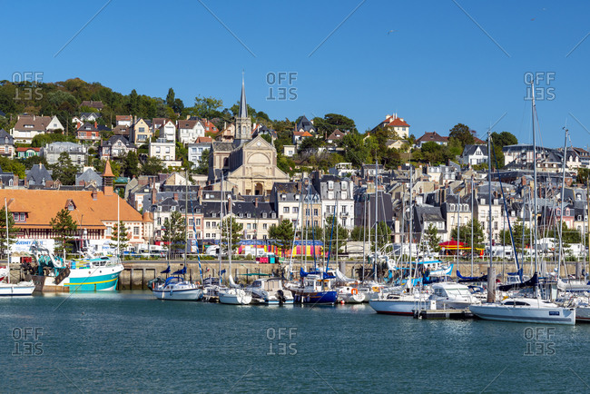September 18, 2019: Trouville marina in France, Normandy