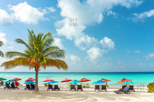 February 25, 2020: Dover Beach in Saint Lawrence Gap, Oistins, Barbados