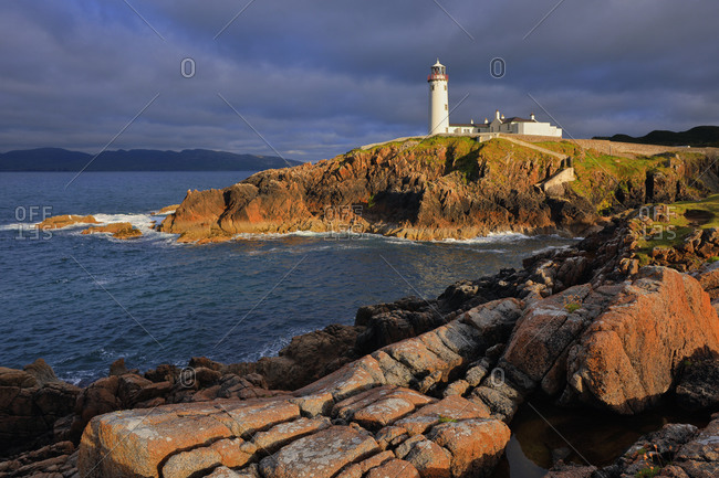 View of the Fanad Head lighthouse, one of the most prominent in the country