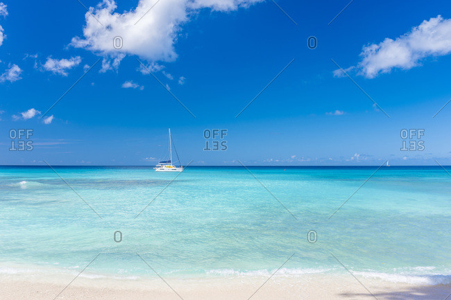 Sandy Lane beach north of Paynes Bay, Barbados.