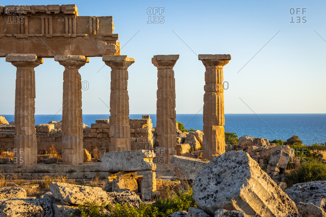Italy, Sicily, Archaeological park, Temple C