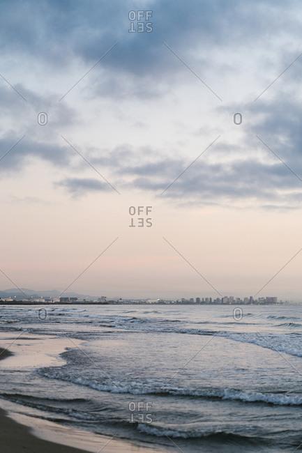 Idyllic view of Mediterranean Sea against sky during dawn