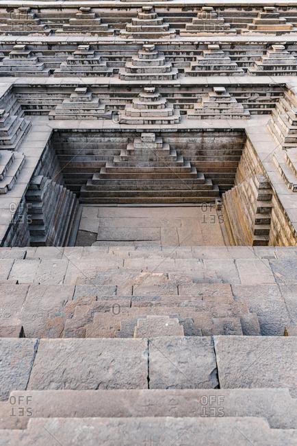 India- Karnataka- Hampi- Square Water Pavilion- also called Queens Bath