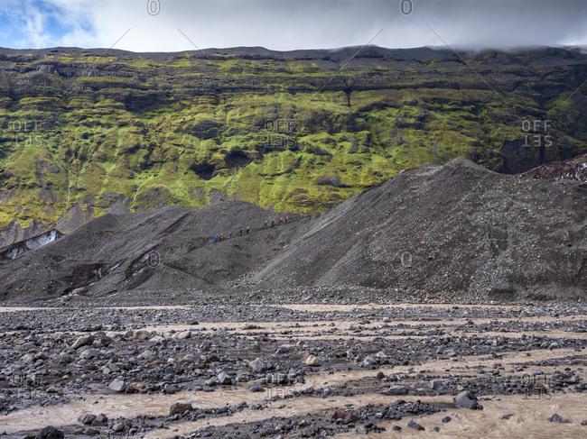 Scenic view of mountain at Svinafellsjokull- Iceland