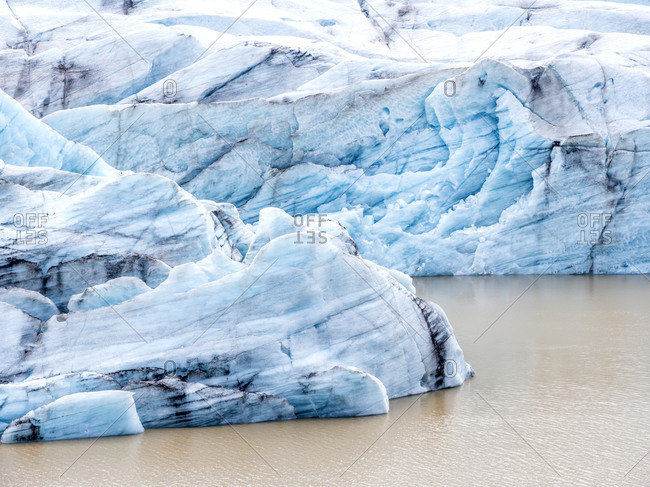 Scenic view of Svinafellsjokull glacier- Iceland