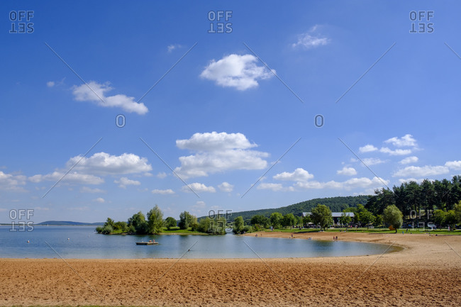 Sandy shore of Brombachsee lake