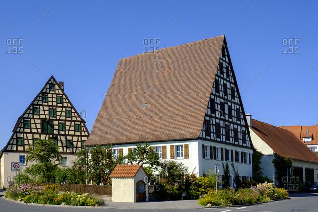 Germany- Bavaria- Spalt- Half-timbered- oast houses
