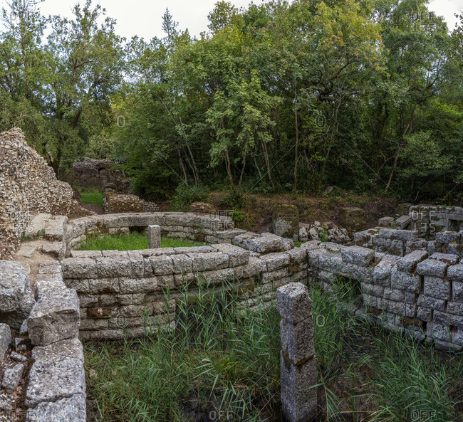 Albania- Vlore County- Butrint- Remains of ancient Roman city