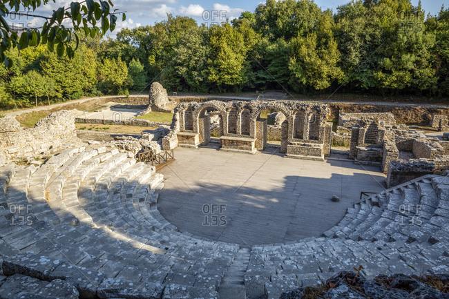 Albania- Vlore County- Butrint- Ancient Theatre of Buthrotum