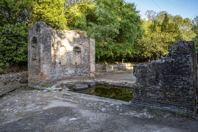 Albania- Vlore County- Butrint- Remains of ancient Roman church