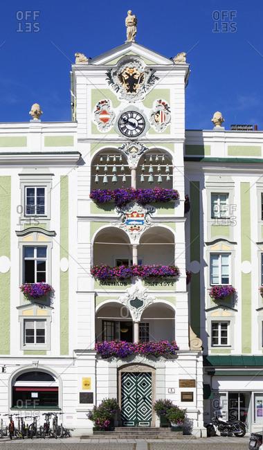 July 27, 2020: Town hall at city square- Gmunden- Salzkammergut- Upper Austria- Austria