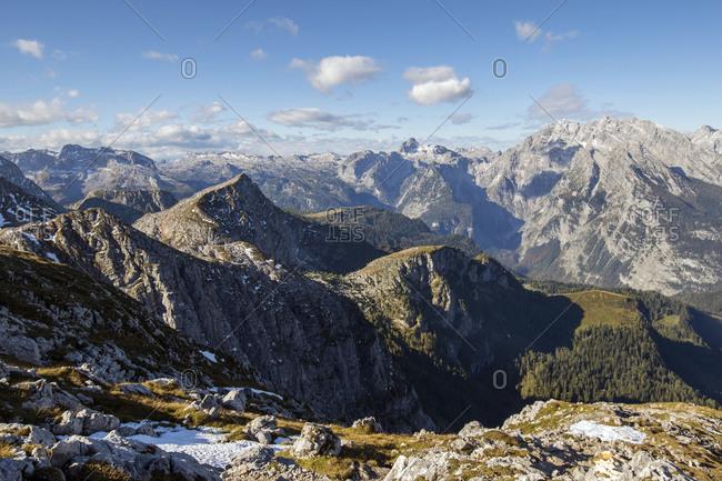 Watzmann Glacier in Berchtesgaden National Park