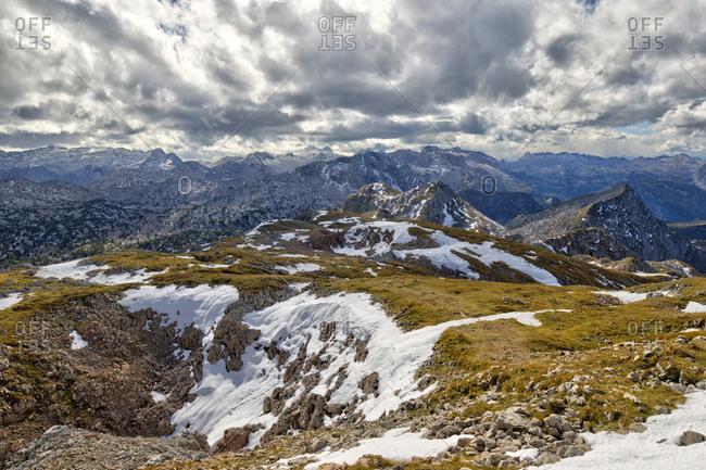 Scenic view from summit ofWindschartenkopf mountain