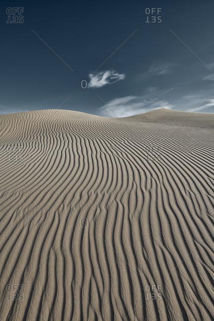 Cadiz Dunes against clear sky at Mojave Desert- Southern California- USA