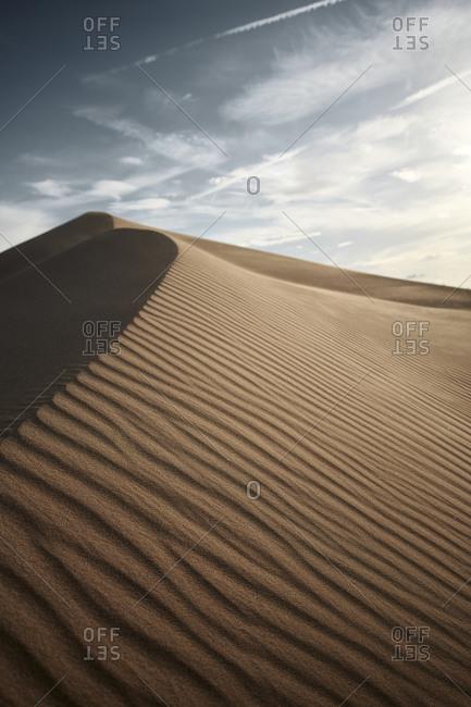 Natural pattern on Cadiz Dunes at Mojave Desert- Southern California- USA