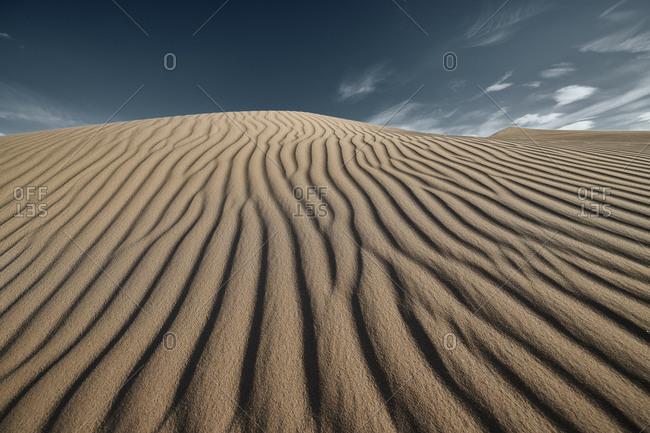 Pattern of wave on Cadiz Dunes at Mojave Desert- Southern California- USA