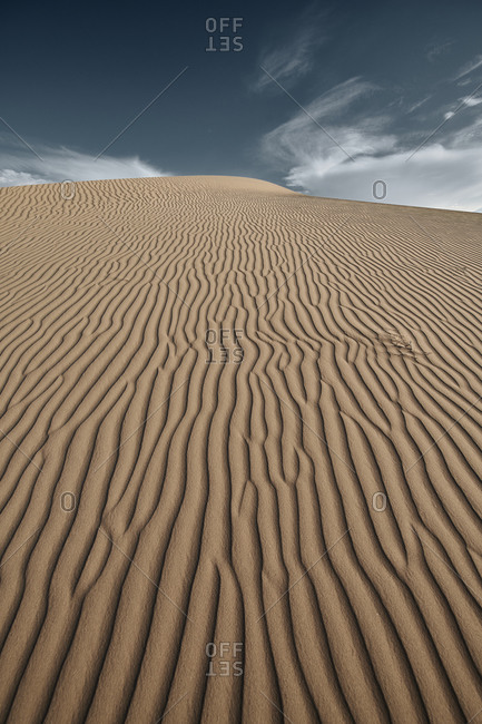Natural wave pattern on sand of Cadiz Dunes at Mojave Desert- Southern California- USA