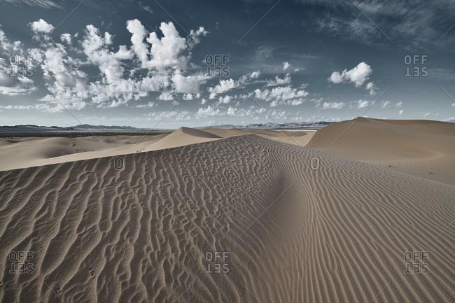 Landscape of Cadiz Dunes at Mojave Desert- Southern California- USA