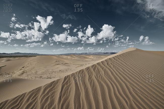 Cadiz Dunes landscape at Mojave Desert- Southern California- USA