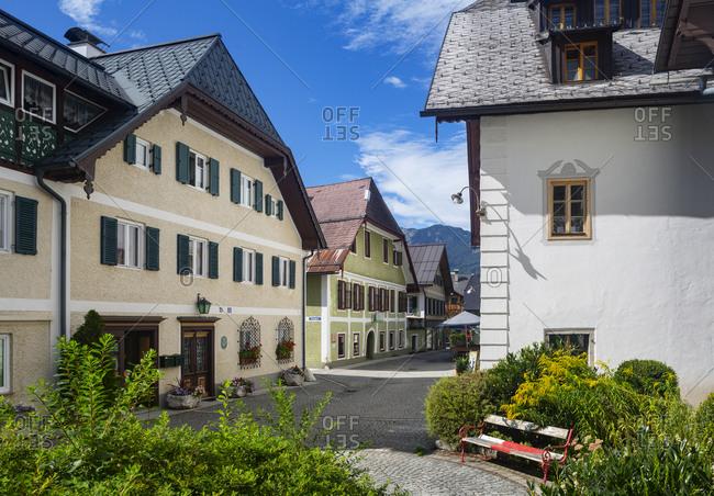 Building in town at Bad Goisern- Upper Austria- Austria