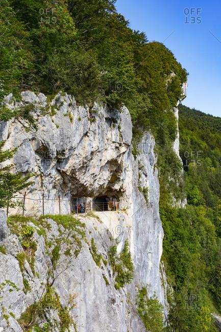 Rock mountain of Ewige Wand at Bad Goisern- Upper Austria- Austria