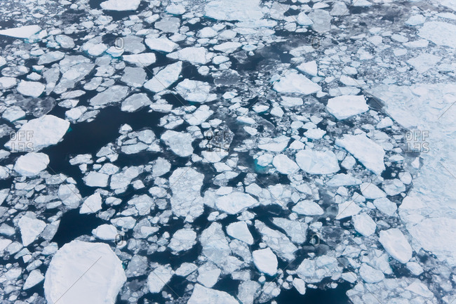 Aerial view of sea ice, Kulusuk, East Greenland