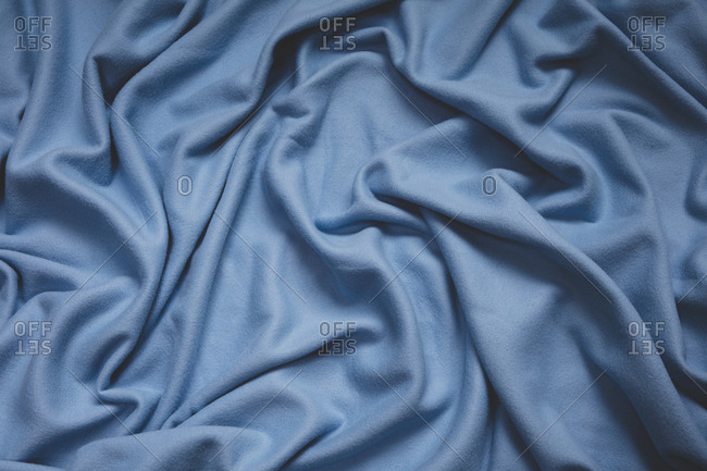Detail of crumpled fleece fabric