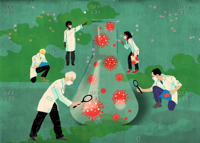 Researchers inspect the coronavirus to create a vaccine