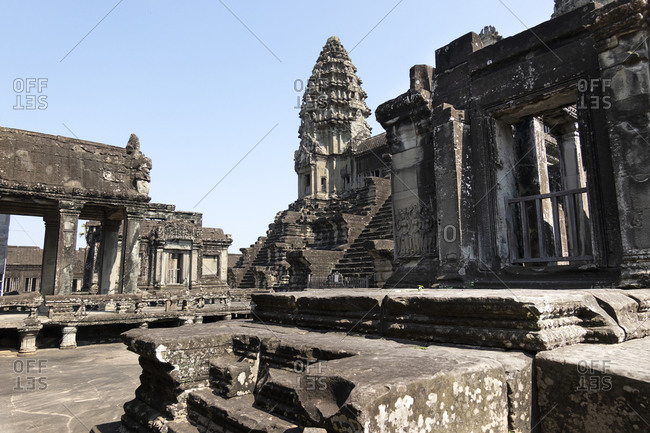 The ancient temple of Angkor Wat