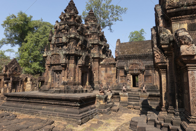 Exterior of Banteay Srei temple