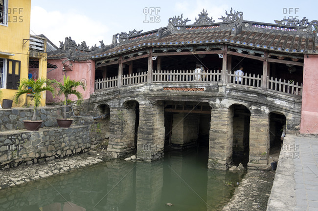An old Japanese covered bridge in Hoi An, Vietnam