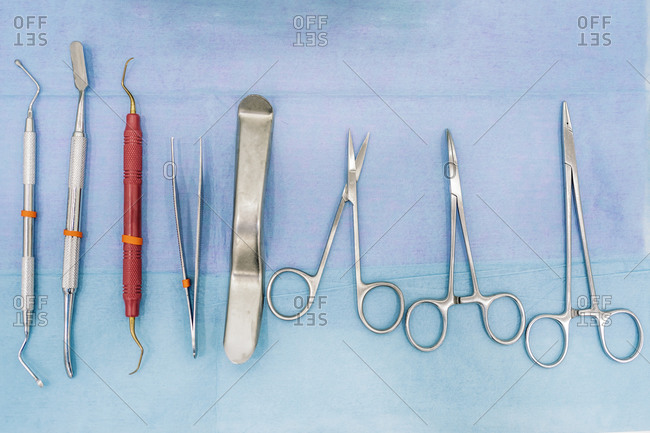 Medical equipment used in dental clinic.