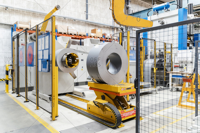 Modern production machines in industry